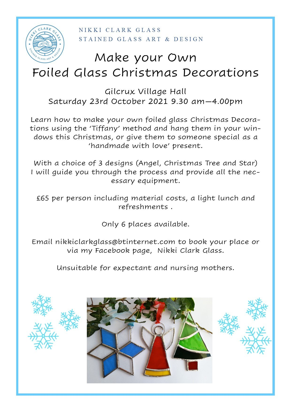 Make Your Own Foiled Glass Christmas Decorations - 23 October 2021